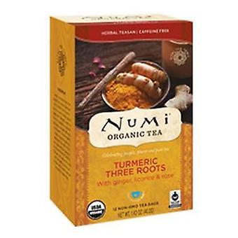Numi Tea Turmeric Tea, Three Roots 12 Bags
