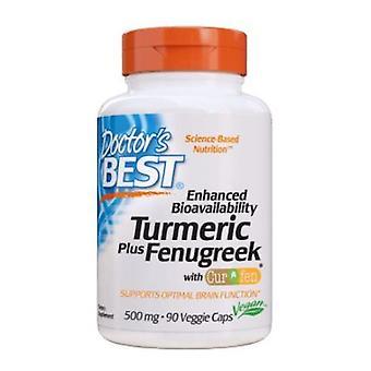 Ärzte Beste Kurkuma + Bockshornklee, 500 mg, 90 Veg Caps
