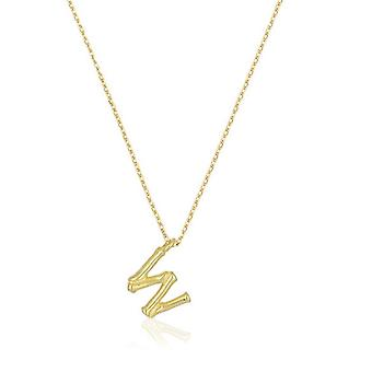 Letter necklace W Bamboo