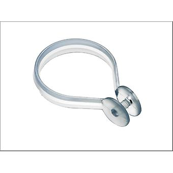 Croydex Shower Curtain Rings x 12 Clear AK142232