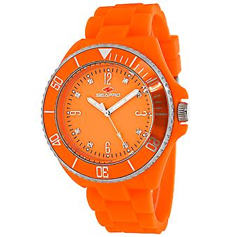 Seapro Frauen's Sea Bubble Orange Zifferblatt Uhr - SP7415