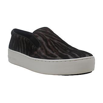 مايكل مايكل كورز ترينت النسائي بوم الجلود المنخفض أعلى الانزلاق على أزياء أحذية رياضية