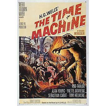 La impresión de póster de película máquina del tiempo (27 x 40)