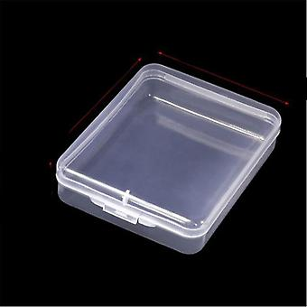 Transparent Plastic Storage Box 6pcs Set - Jewelry Pill Chip Organizer Case