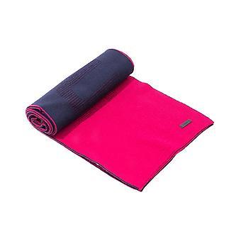 ボス ドニコ ラージ ロゴ レッド & ネイビー ウール スカーフ
