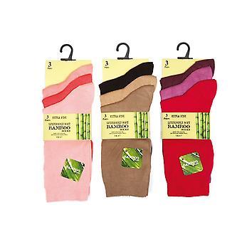 Otterdene Ladies Bamboo Socks Size 4-8 x 3 Assorted AS708