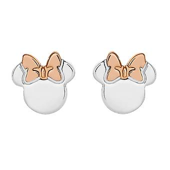 Disney Minnie Mouse Sterling Silver Two Tone Stud Boucles d'oreilles