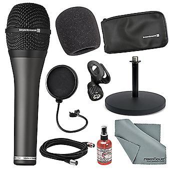 Beyerdynamic tg-v70d professionell dynamisk hyperkardioid mikrofon för sång tillsammans med kablar, stå, och fibertique trasa och mer