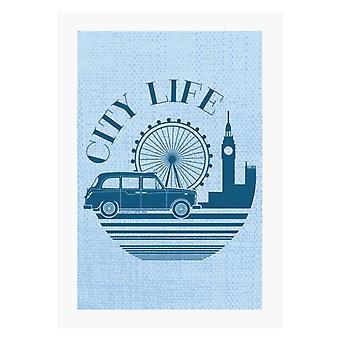 London Taxi Company City Life A4 Print