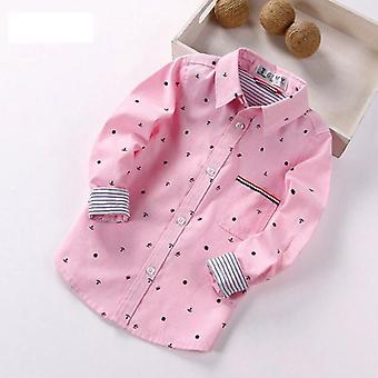Bahar Tam Kollu Baskılı Çapa Uğurlu Desen Gömlekler / çocuk Gündelik Kıyafetler