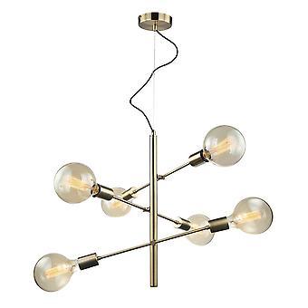 Italux Madalyn - moderne hängende Anhänger Antike Bronze 6 Licht, E27