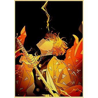 Demon Slayer: Kimetsu No Yaiba Tanjirou Nezuko Anime Poster Kraft Paper Vintage