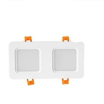 Blanco doble cob Led, downlight Ceiling Spot Light
