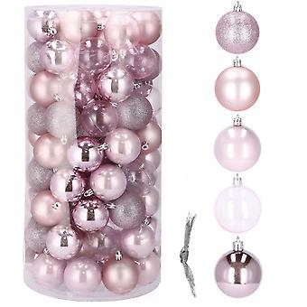 Baubles 100 pcs - Pink assortment - plastic