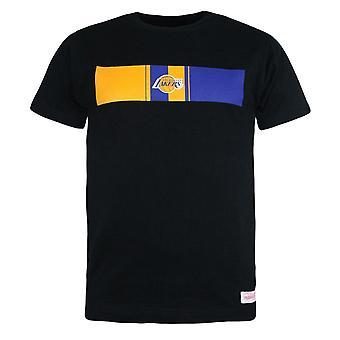 Mitchell & Ness Mens LA Lakers T-Shirt Trad Tee Black BA20C LAL