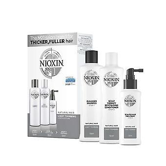 Nioxin hårtab Kit Kit 1 for naturlige og naturlige naturlige normale hår
