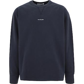 Acne Studios Bi0082black Men's schwarze Baumwolle Sweatshirt