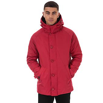 Men's Henri Lloyd Traditional Consort Hooded Oxford Jacket in Red