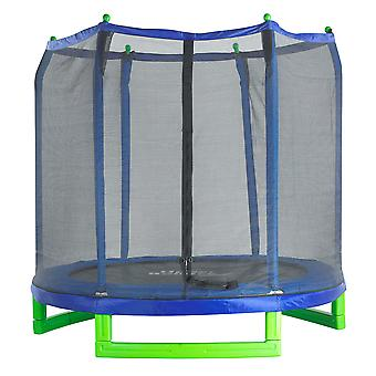 7Ft Kids Trampoline and Enclosure Set for Garden & Outdoor, Includes Net Mat Pad