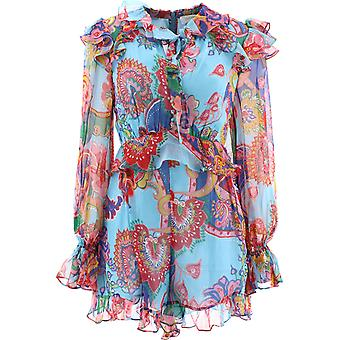 Zimmermann 9951yandbpf Women's Multicolor Silk Dress