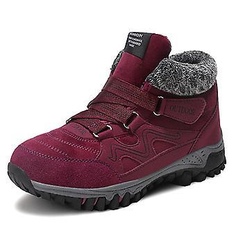 Zapatos de nieve de invierno de felpa de señoras púrpura