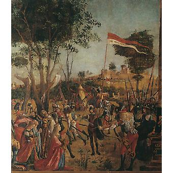 Legend Of St Ursula Martyrdom Of The Pilgrims And The Funeral Of Ursula Poster Print