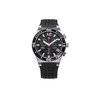 Reloj masculino militar suizo por Chrono SM34015.05, cuarzo, 43 mm, 10ATM