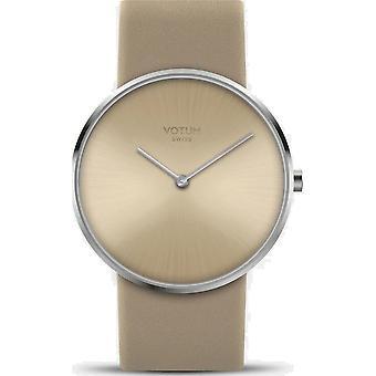 VOTUM - Ladies watch - CIRCLE - Pure - V01.10.40.04 - Leather strap - beige