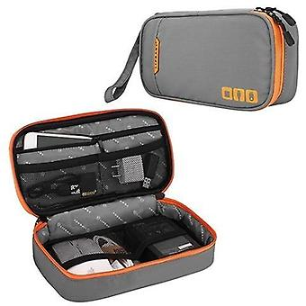 Portable Electronic Travel Case And Cable Organizer Bag