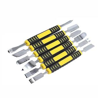 Dual Ends Metal Spudger Hand Tool Set For Iphone Ipad Tablet  (yellow)