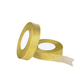 Glitter Organza Ribbon Xmas Tree Christmas Ribbon