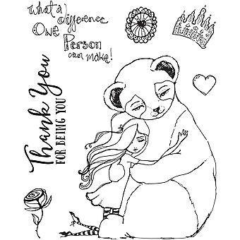 Spellbinders Panda Thank You Clear Stamp Set