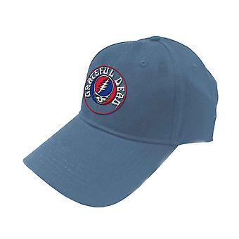 Grateful Dead Baseball Cap Steal Your Face Band Logo Official Denim Blue Unisex
