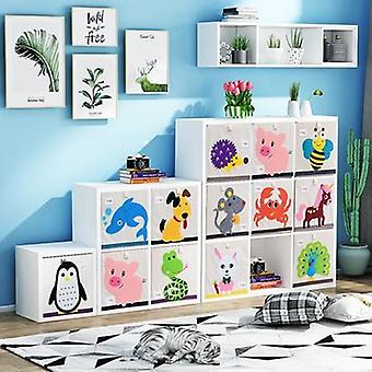 Children Furniture Wooden Bookshelf Bookcase Toy Storage Cabinet (wood Box
