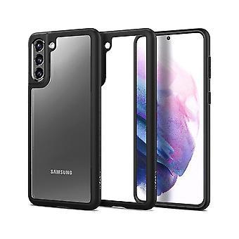 Coque Pour Samsung Galaxy S21+ 5g En Polycarbonate Et Silicone Noir Mat, Ultra Hybrid