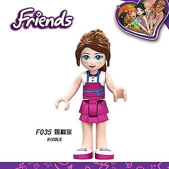 Princess Friends Celebration Aurora Rapunzel Belle Model Building Blocks