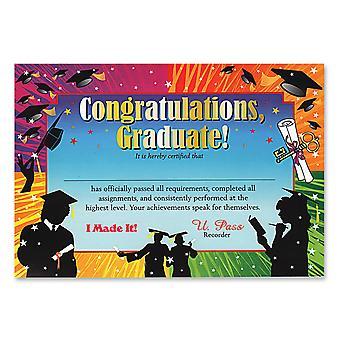 Certificado de Posgrado de Felicitación (Pack Of 6)