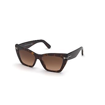 Tom Ford WYATT TF871 52F Mørk Havana/Brun Gradient Solbriller