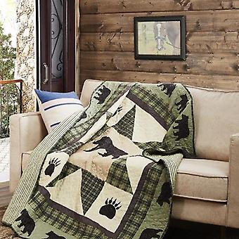 Spura Home Pictorial Bear Star Quilted Contemporary Throw