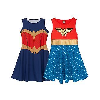 Wonder Woman For Girls | Kids DC Comics Cosplay Jurk Rood OF Blauw Opties | Childrens Fancy Dress Party Outfit Geschenken