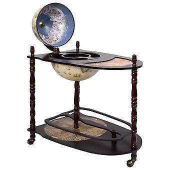 vidaXL Globe Bar Table Eucalyptus Wood Green Fristående