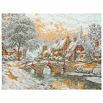 Anchor Counted Cross Stitch Kit: Maia Collection: Cobblestone Christmas