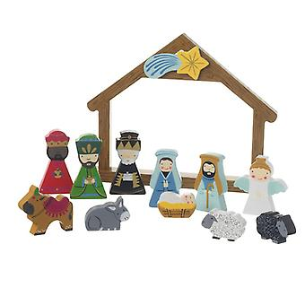 Heaven Sends Boxed Wooden Nativity Scene