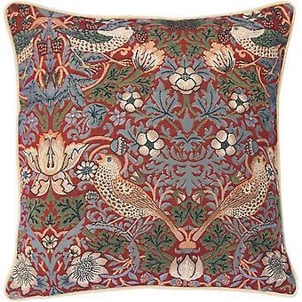 Gerui Tapestry Cushion Cover 18 x18 inches 45cm x 45cm Decorative Sofa Cushions with William Morris Design