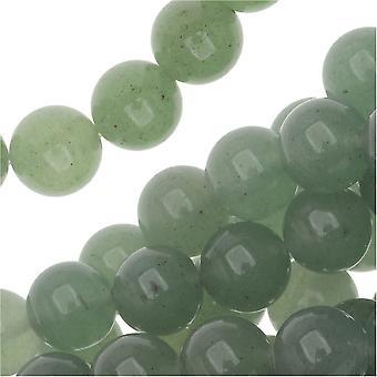 Ädelstenspärlor, Aventurine, Rund 8mm, 15,5 tums strand, grön