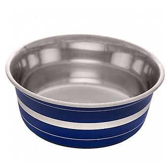 Dogit Blue Stripe Stainless Steel Anti Slip Feeder