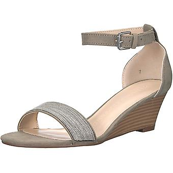 Athena Alexander Women's Enfield Wedge Sandal, Grey Suede, 7 M US