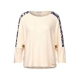 Calle Uno 315918 Camiseta, Arena Brillante Melange, 44 Mujer