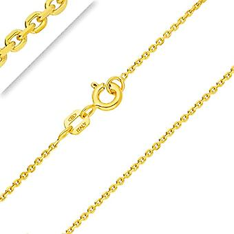 PLANETYS Forced knitted chain, in 9-carat yellow gold (375/1000), 40-45-50-55-60 cm and Yellow Gold 375/1000, color: Ref. 3701049593207