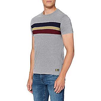 Superdry R&P Chestband Tee T-Shirt, Collective Dark Grey Grain, 3XL Men's